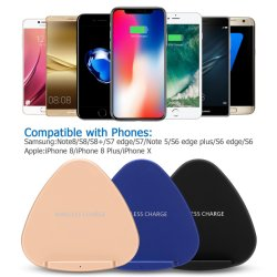 El clásico cargador inalámbrico para el teléfono móvil y el iPad