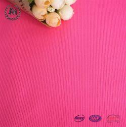 Venta caliente Polyester Spandex la mitad de la nervadura brillante tela Interbloqueo de tejido de ropa deportiva casual