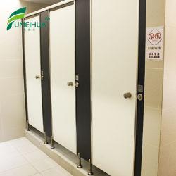 Fumeihua noir et blanc stratifié compact Partition de toilettes de l'armoire