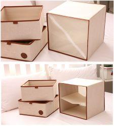 ソックスの下着のディバイダのオルガナイザーのためのFoldable非編まれたファブリック収納箱の引出し