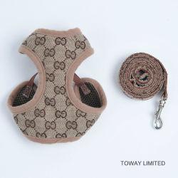 La impresión de la marca de cables de malla lleva perro accesorios para mascotas