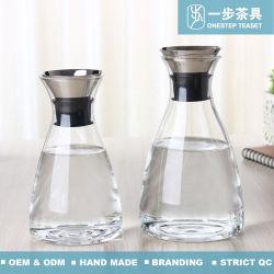De hittebestendige Waterkruik van het Glas van Borosilicate Pyrex met Deksel