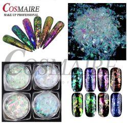 Efeito de arco-íris Chromaflakes translúcido branco para pistolas de decorações Arte