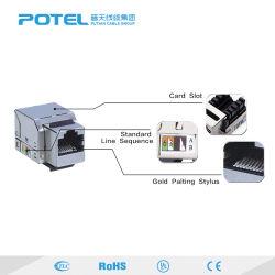 O FTP Cat5/Cat6/Cat6um Módulo de Rede Marrã180 fio conector RJ45 Calculador de tomada de Informações do Adaptador do cabo de saída de tomada de Keystone