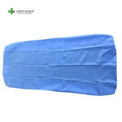 Lenzuolo a gettare, SMS, pp, lenzuolo non tessuto del materiale di PP+PE, lenzuolo monouso, coperchio di base, tela di base a gettare per medico, ospedale, STAZIONE TERMALE, a gettare