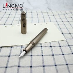 Lingmo Metal de alta qualidade Fountain Pen Ouro Negro Cor com Design OEM Caneta com o logotipo personalizado