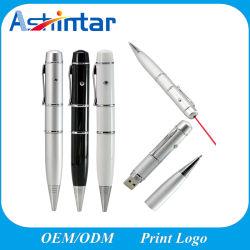 Лазерный шариковой ручки USB флэш-диск карты памяти Memory Stick USB Pen Drive металлический флэш-накопитель USB