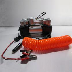 Autorout doppelter Gummireifen-Luftpumpe Soem-Entwurfs-elektrische Luftpumpe des Zylinder-Luftverdichter-SUV des LKW-12V mini beweglicher für Auto