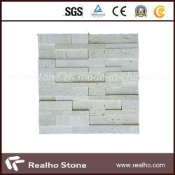 La brique mosaïque de travertin blanc décalées pour Wall Tile
