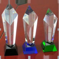 Новейшие хрустальное стекло Даймонд премию с зеленой базы