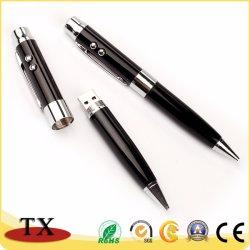 Oferta promocional laser USB Metal Pen Drive Flash USB de caneta