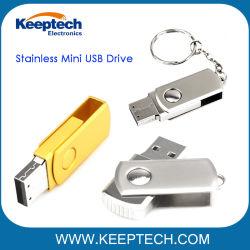 스테인리스 미니 USB 플래시 드라이브 프리 레이저 로고