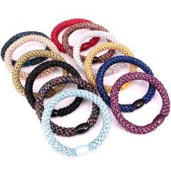 Mulheres Cabelos Elásticas Banda Scrunchies Acessórios de cabelo rabo-de laços de cabelo