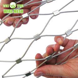 La decoración de la cuerda de acero inoxidable Malla de cable de compensación de Aviary para Zoo muro cortina