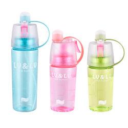 bottiglia di acqua di raffreddamento d'idratazione della mano dell'acqua dello spruzzo di bellezza della bottiglia creativa di sport esterni di 400ml 600ml della tazza della tazza di plastica dello spruzzo