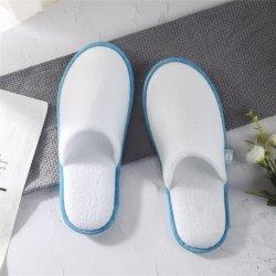 Venda por grosso de EVA descartáveis White Terry toalha EVA única companhia aérea SPA Hotel pantufas