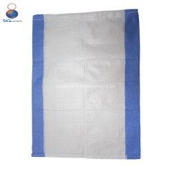 SGS CE FDA colorido Imprimir Logotipo personalizado 50kg PP blanco Hoja de tejido plástico de Embalaje Embalaje Saco de Arena de inundación de fertilizante de alimentación de azúcar en la bolsa de harina de arroz