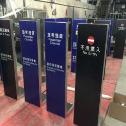 Estanterías metálicas mostrar signos de aluminio de Impresión Digital Signage Outdoor