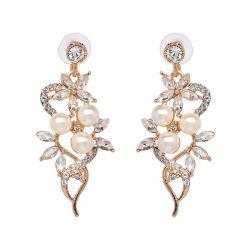 Mode Accessoires bijoux de mode fleur cristal coloré Pearl Earrings