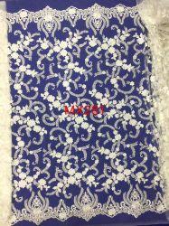 Fabrik-Großverkauf-neue Art-elegante normale Stickerei-Spitze für Hochzeits-Kleid und Brautkleid
