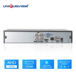 H. 264 Ahd Tvi ICB CVBS 5 en 1 IP 1080n 4ch enregistreur DVR Vidéo CCTV XVR