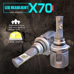 Novo X70 60W 15600LM 9006 12V 24V Auto Carro Lâmpada LED de iluminação automática