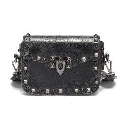 Мода модный шипами кожаные сумки женщин Crossbody Messenger сумки для дам