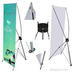 Exposition de pliage portable magasin Affichage de l'événement X Frame Stand de bannière