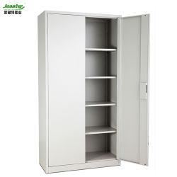 Le métal 2 Porte armoire de stockage de fichiers avec des étagères réglables