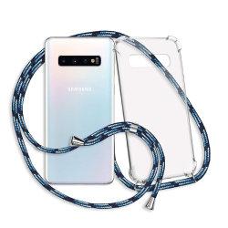 Het Geval van de Telefoon van de halsband voor Dekking van de Telefoon Crossbody van Samsung S10/S10+ de Mobiele met de Ketting van het Koord/van de Riem/van het Sleutelkoord