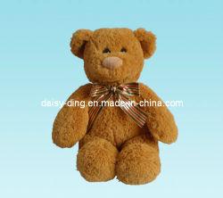 Assis en peluche ours en peluche avec Brown matériau souple