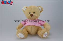 "11 "" Cute superbe Plush Brown Baby Bear Toy avec Pink T-Shirt"
