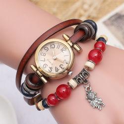 Сварные швы в стиле ретро из натуральной кожи с рыба браслет смотреть украшения Fashion браслет аналоговые кварцевые часы новогодние подарки Esg13637