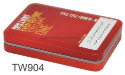 20 sigaretten metalen koffer Rectangular Tobacco Box Aluminium sigaret Box Met scharnierend deksel