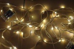 [إكسمس] خفيفة طبيعيّ حبل نحاسة خيط ضوء يشعل حزب [ليغت شين] [بولب ليغت]