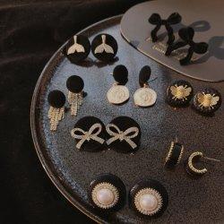 De elegante Minimale Juwelen van Oorringen met Parel voor Wijfje