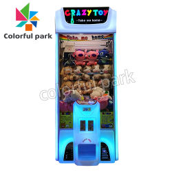 Parque coloridos Crazy Toy Claw Guindaste máquina de jogos