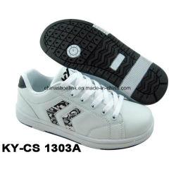China Fashion sapatos de skate Casual PU superior com Rb Linguado para senhora e crianças