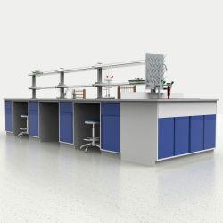 Hospital Escola da Universidade de aço todos os médicos biológicos de Química de metal montado no chão Ilha Mobiliário de laboratório com bancada de resina epóxi/