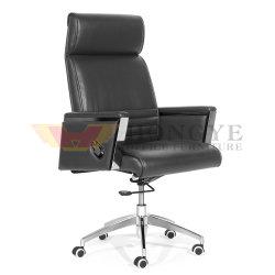 黒いPUの革豊富なArmrestの素晴らしい車輪のオフィスの椅子(HY-116)
