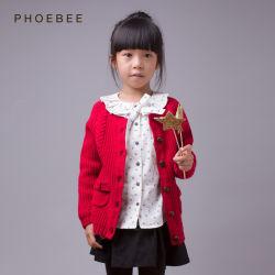 Phoebee 100% Lana de los niños las prendas de vestir chica chaqueta tejida de invierno