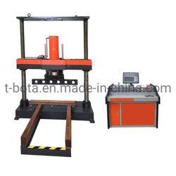 Il drenaggio del calcestruzzo di rinforzo convoglia la macchina di prova di compressione con controllo di calcolatore