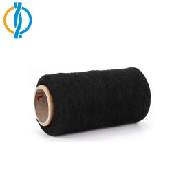 Poly coton recyclé superposées fils épais NM10 & NM14 Non-Dyed Gant de couleur des fils pour le tricotage de gants