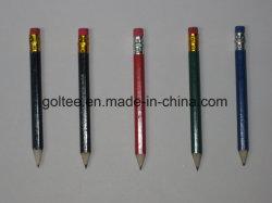L'impression ronde à six pans de promotion de l'hôtel Crayon Crayon Crayon de golf en bois
