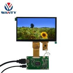 7 visualizzazione capacitiva di tocco dell'affissione a cristalli liquidi del USB Touchscren 1024*600 RGB TFT TN di pollice P+G