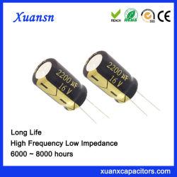 Heißer verkaufender langer elektrolytischer Kondensator des Leben-2200UF16V
