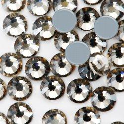 Kingswick même coupe facette de l'Hématite dos plat en verre en cristal cristal strass Hot Fix de transfert de gros de dessins et modèles Motif Rhinestone