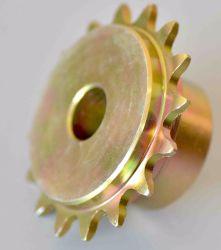 أسنان مقواة العجلة المسننة السطحية من الفولاذ الكربوني الخاصة بناقلة سلسلة البكرات أجزاء السلسلة التلقائية