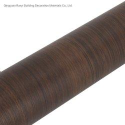 Color madera oscuro decorativas autoadhesivas de papel de pared de la película
