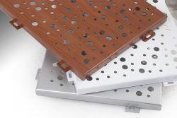 실내 장식 퍼포레이션 우드 알루미늄 금속 루스터 천장